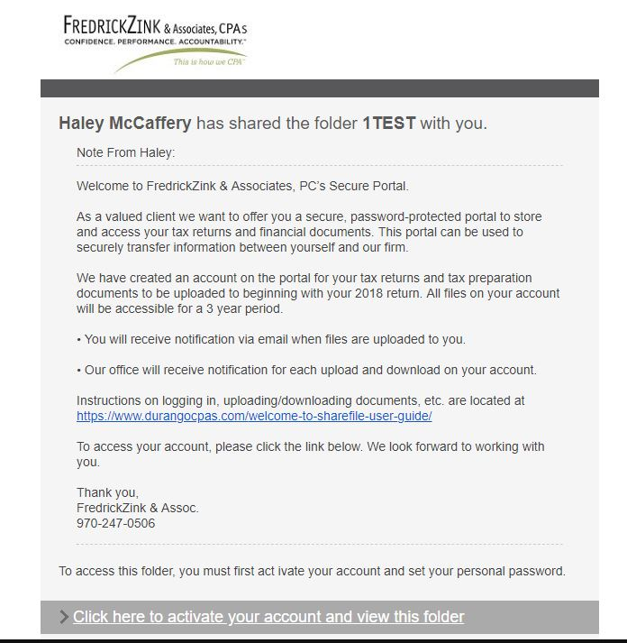 FZA Client Portal | Durango CPAs